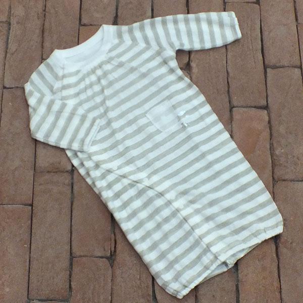 PRISTINE BABY リネンコットン ボーダーおさかな2WAYドレス