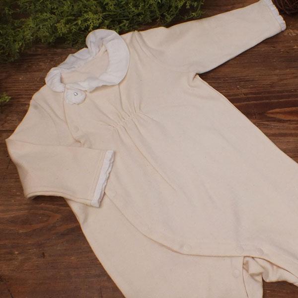 PRISTINE BABY ベビー パールコサージュ付きカバーオール 70・80サイズ