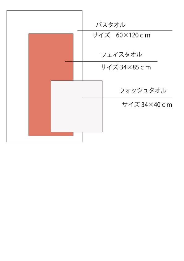 天衣無縫 パイルガーゼ ボーダータオル【ベンガラ染め ピンク】